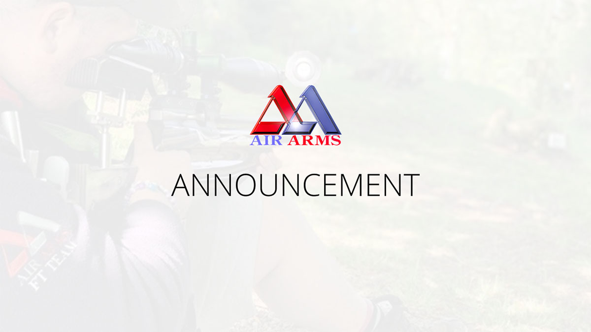 Air Arms Announcement - 2020 RSN10 Cup Competition Cancelled.